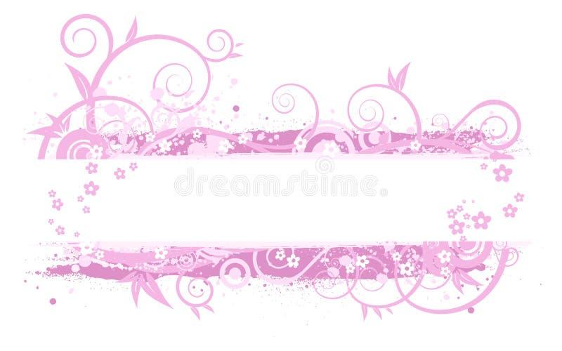 Rosafarbene Fahnenabbildung vektor abbildung