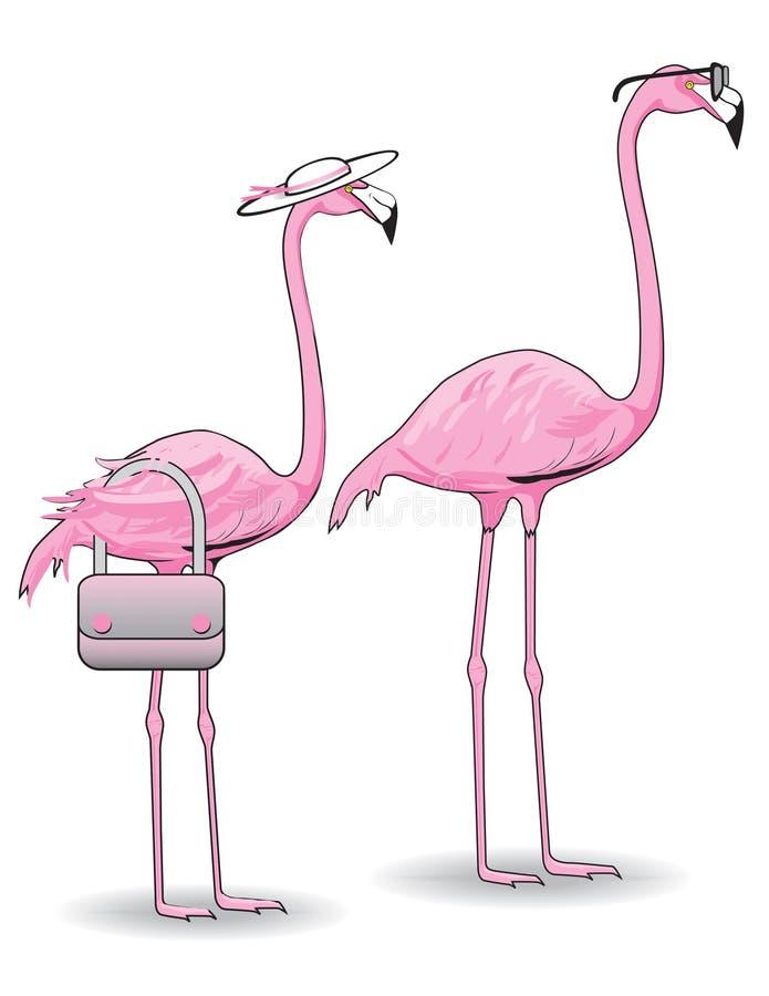 Rosafarbene Flamingo-Paare vektor abbildung