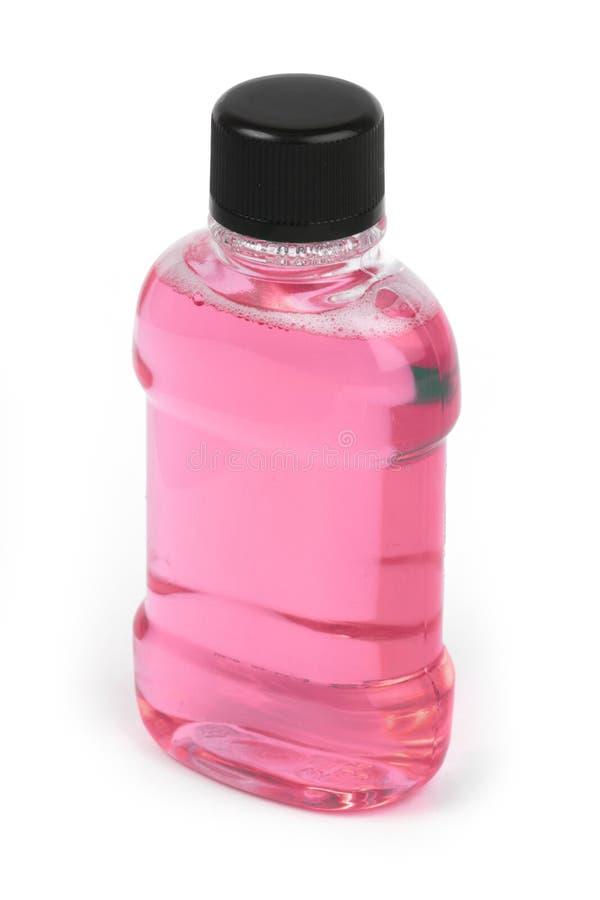 Rosafarbene Flasche stockfotos