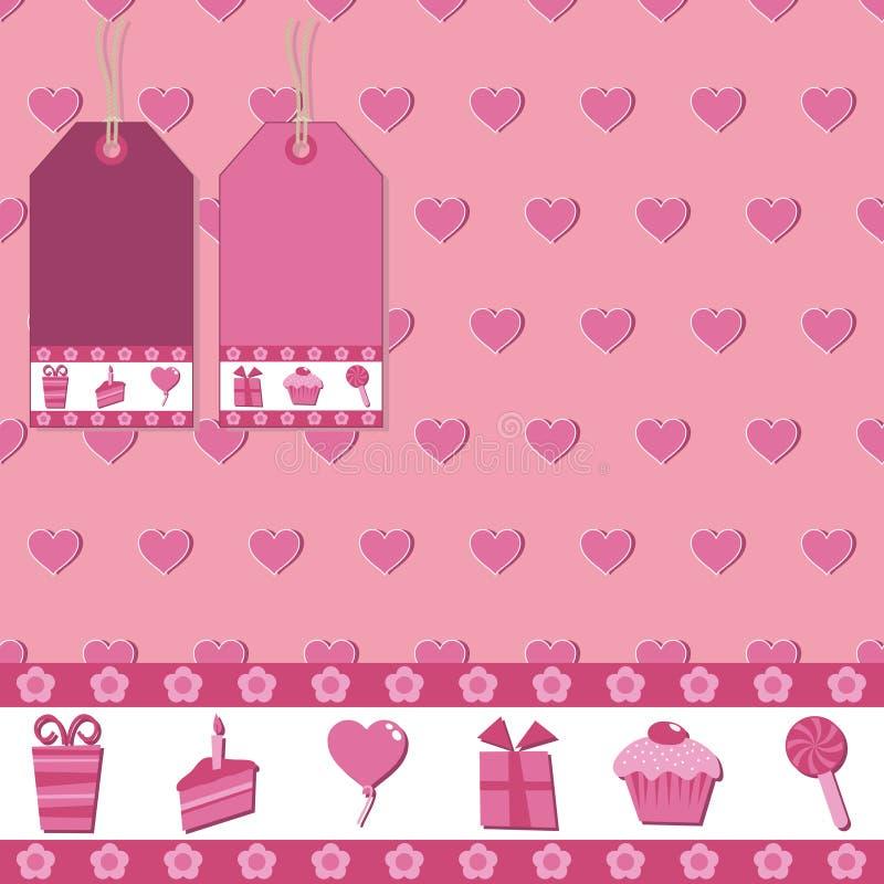 Rosafarbene Geschenkverpackung lizenzfreie abbildung