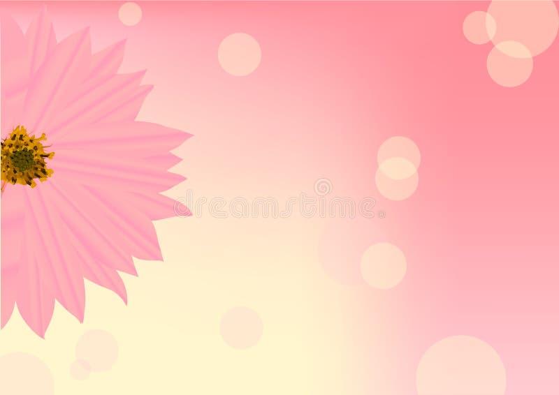 Rosafarbene halbe Blume auf Unschärfenhintergrund lizenzfreie abbildung