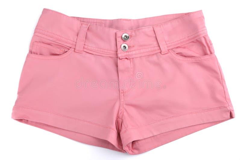 Rosafarbene Kurzschlüsse stockfoto