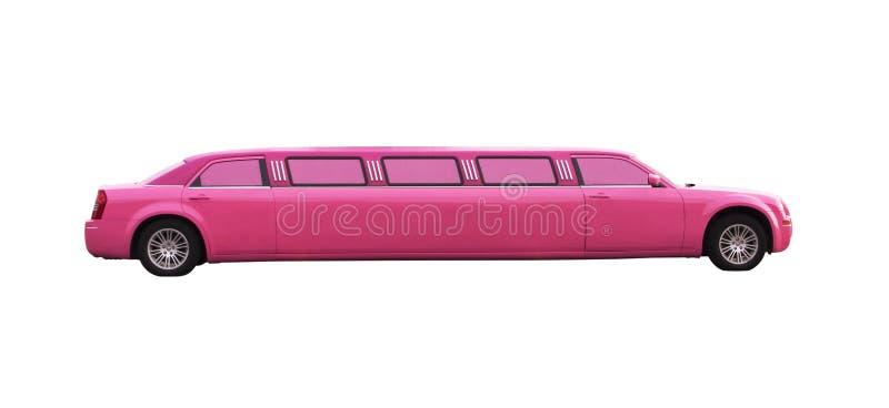 Rosafarbene Limousine stockbild