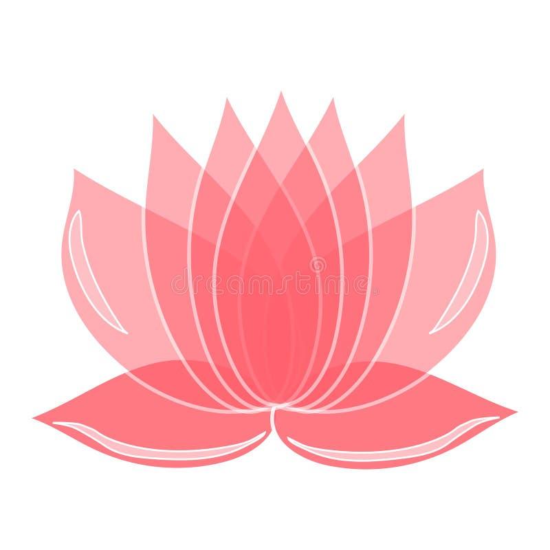 Rosafarbene Lotosblume Element der Auslegung Sie können als Logo verwenden lizenzfreie abbildung