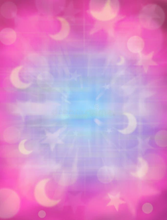Rosafarbene Monde und Sterne stockfotos