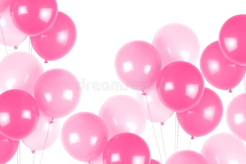 Rosafarbene Partyballone lizenzfreie stockfotos