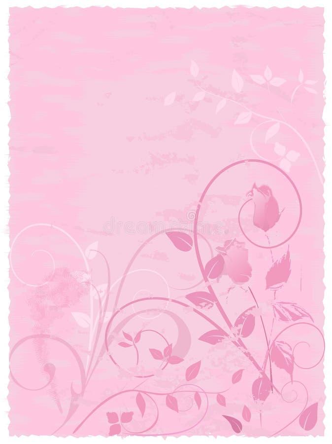 Rosafarbene Pergament-Rosen-Auslegung lizenzfreie stockfotografie
