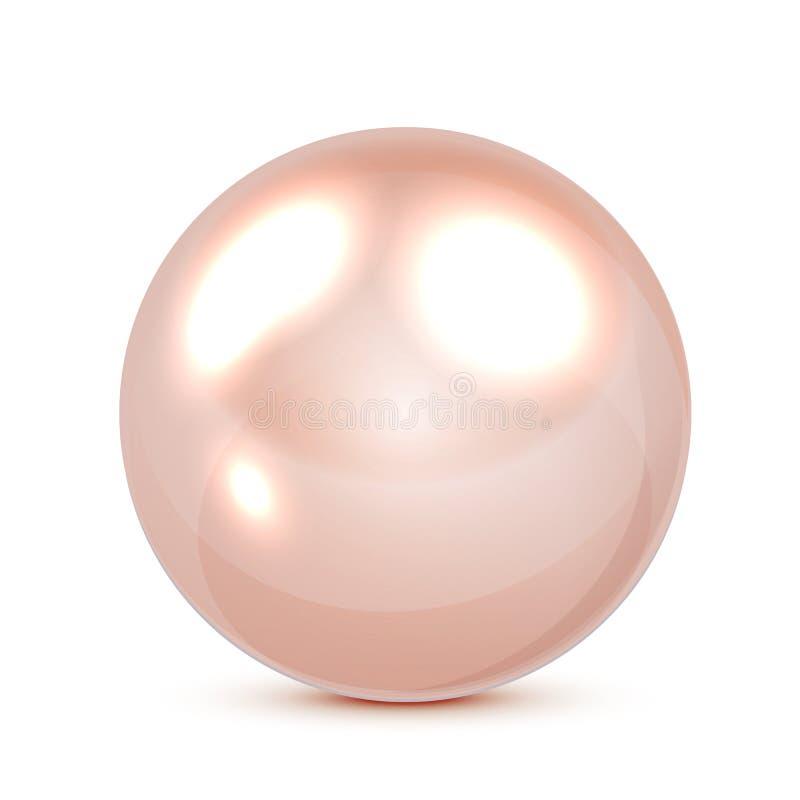Rosafarbene Perle vektor abbildung