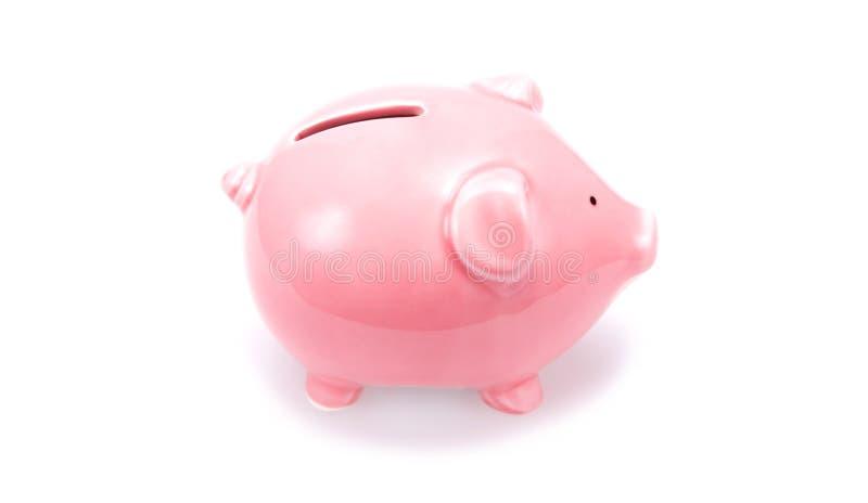 Rosafarbene piggy Querneigung lizenzfreie stockfotos