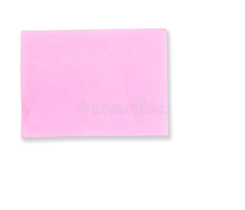 Rosafarbene Protokollanmerkung stockfoto