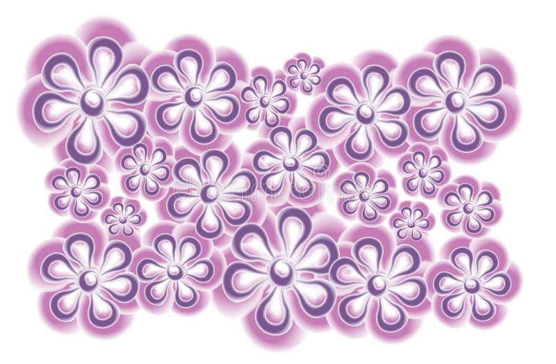 Rosafarbene purpurrote Blumen-Klipp-Kunst lizenzfreie abbildung