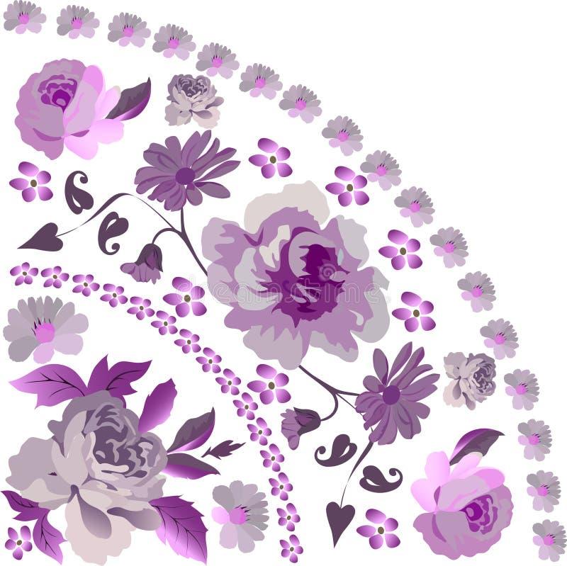 Rosafarbene Quadrantverzierung des Rosas vektor abbildung