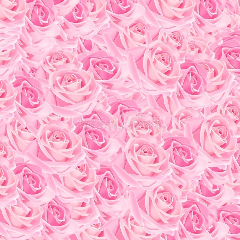 Rosafarbene Rosen lizenzfreie abbildung