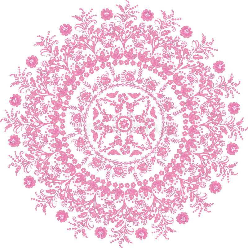 Rosafarbene runde Auslegung der Blume vektor abbildung