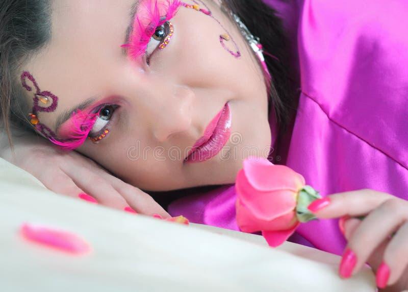 Rosafarbene Schönheit lizenzfreies stockfoto