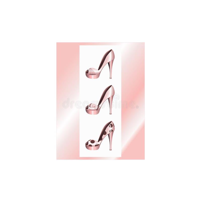 Rosafarbene Schuhe lizenzfreie abbildung