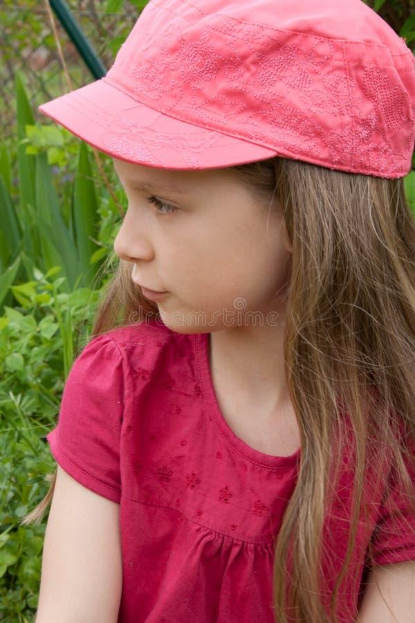 Rosafarbene Schutzkappe lizenzfreie stockbilder