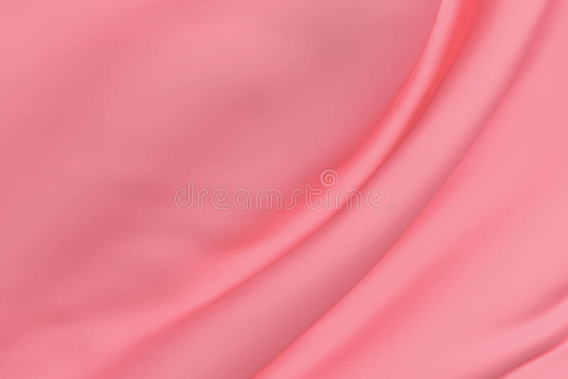 Rosafarbene Seide stock abbildung