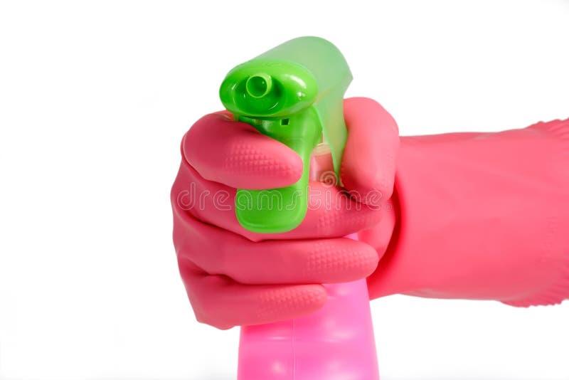 Rosafarbene Sprayflasche lizenzfreie stockfotos
