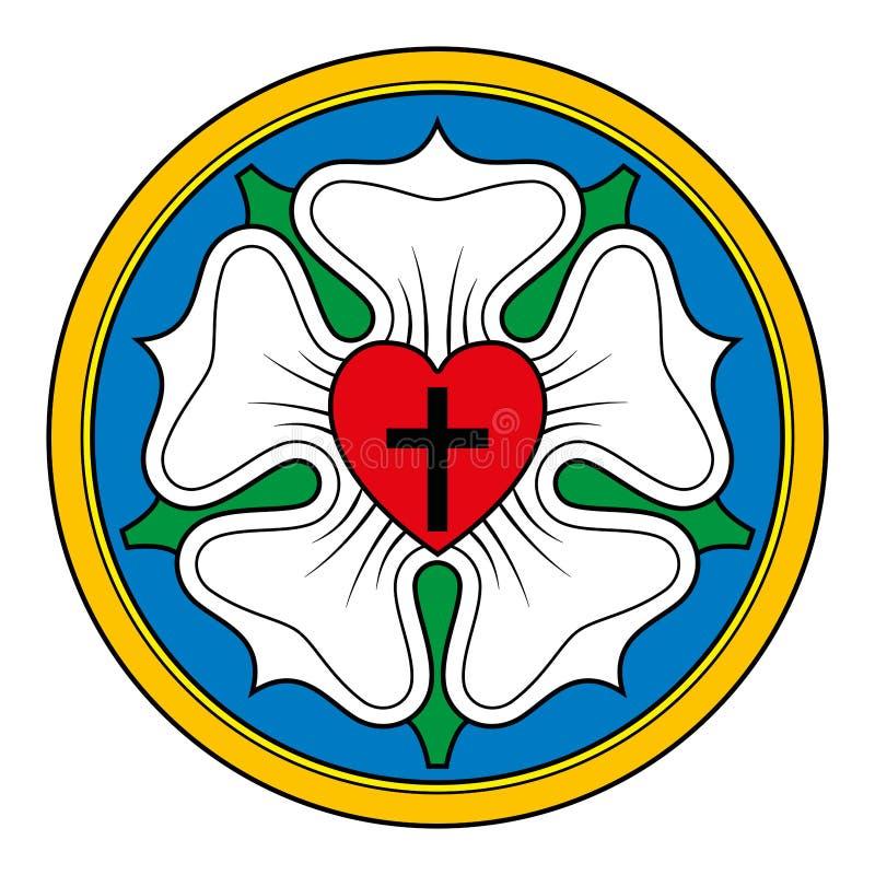 Rosafarbene Symbolillustration Luther über Weiß vektor abbildung