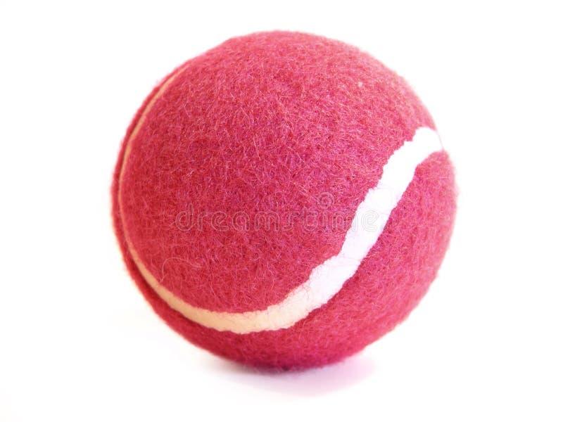 Rosafarbene Tenniskugel stockbild