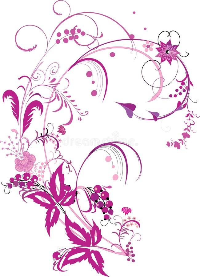 Rosafarbene traditionelle Dekoration vektor abbildung