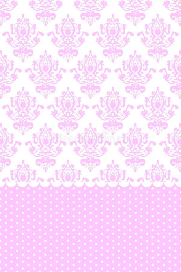 Rosafarbene und weiße Tapete stock abbildung