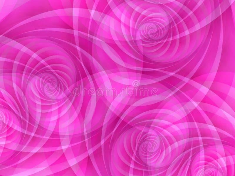 Rosafarbene undurchlässige Kreis-Strudel lizenzfreie abbildung