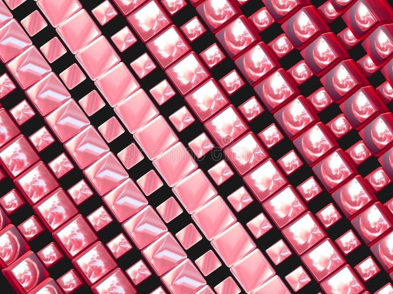 Rosafarbene Vierecke lizenzfreie abbildung