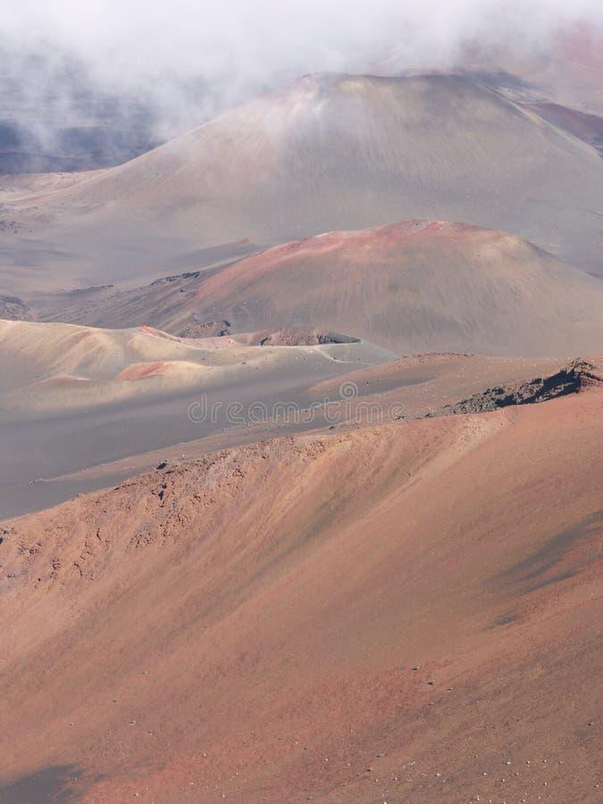 Rosafarbene vulcano Hügel stockfoto