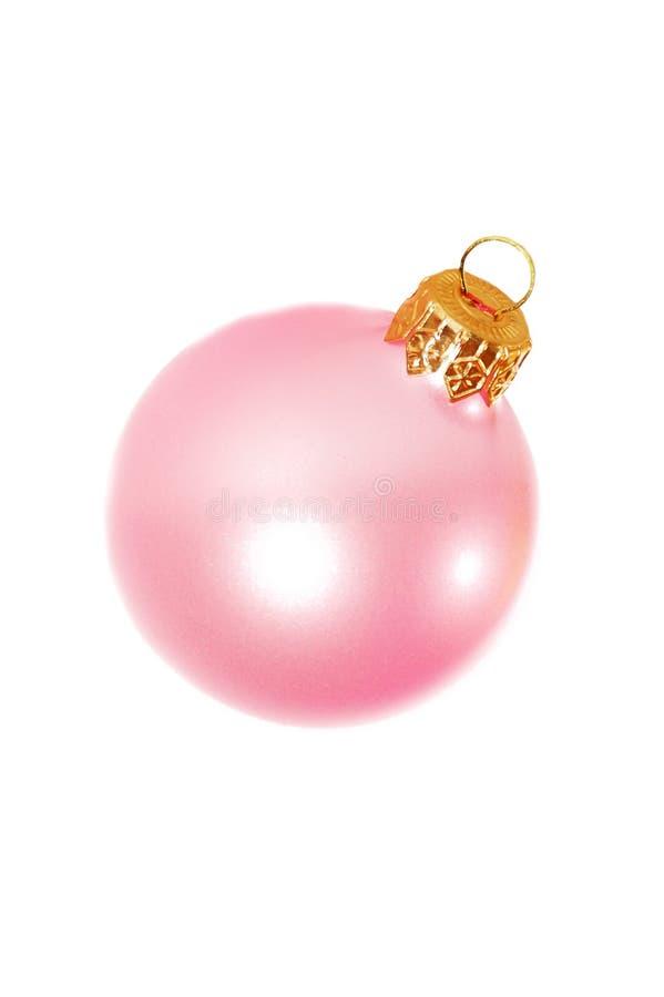 Rosafarbene Weihnachtsdekoration lizenzfreies stockbild