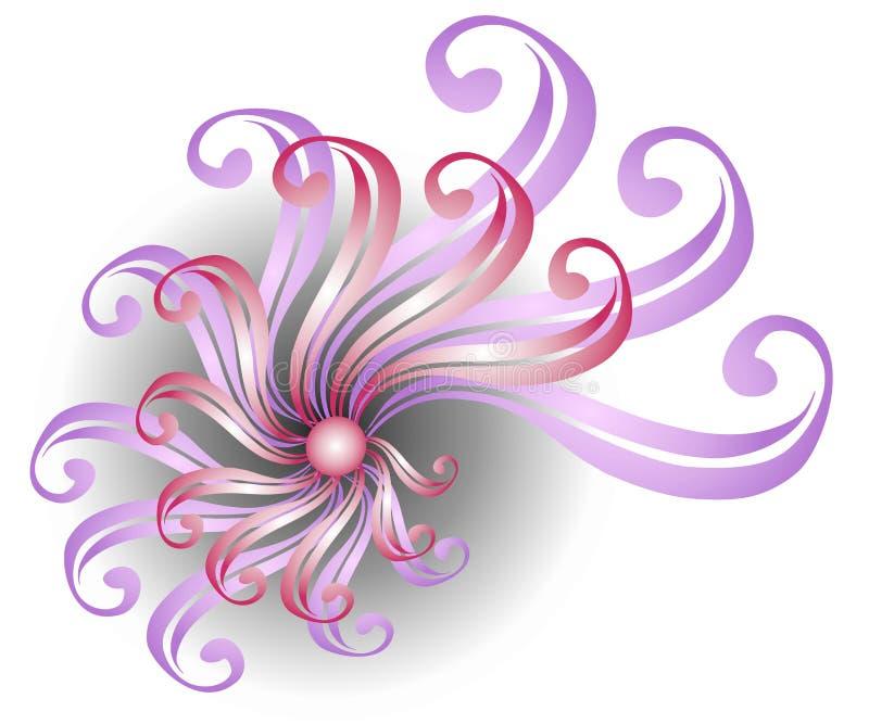 Rosafarbene wirbelnde Farbband-Auslegung vektor abbildung