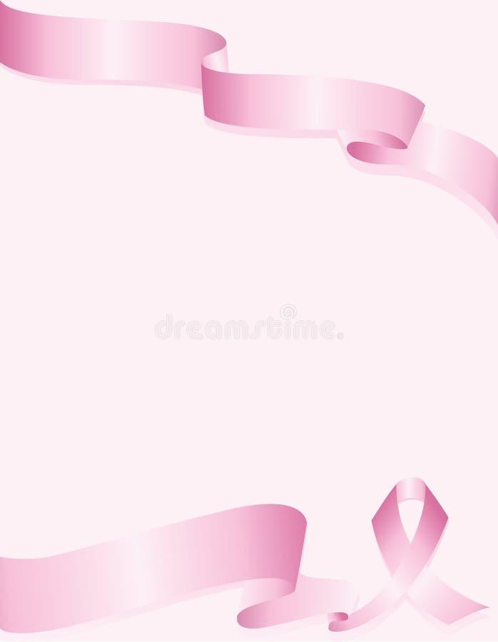 Rosafarbener Bewusstseinsfarbbandhintergrund für Brustkrebs stock abbildung