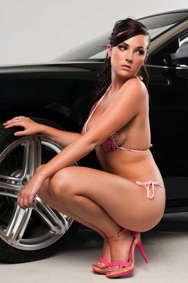 Rosafarbener Bikini stockfoto