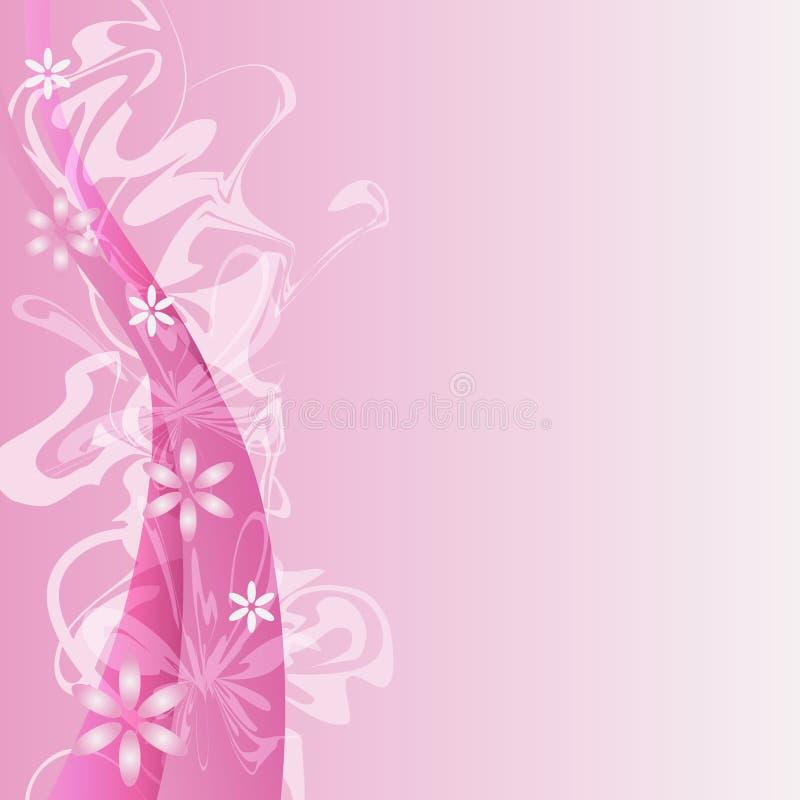 Rosafarbener Blumen-Hintergrund lizenzfreie abbildung