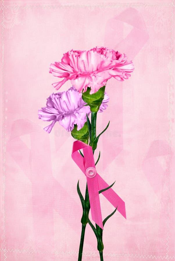 Rosafarbener Blumenstrauß lizenzfreie abbildung