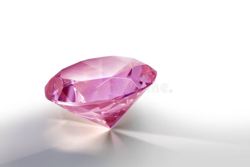 Rosafarbener Diamant stockbild