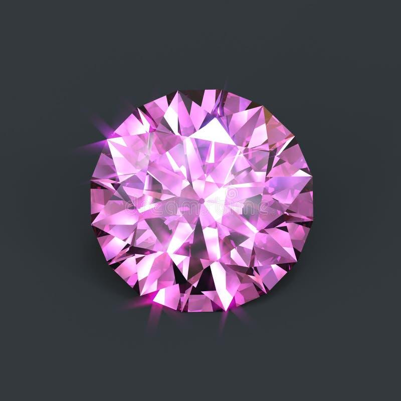 Rosafarbener Diamant lizenzfreie abbildung
