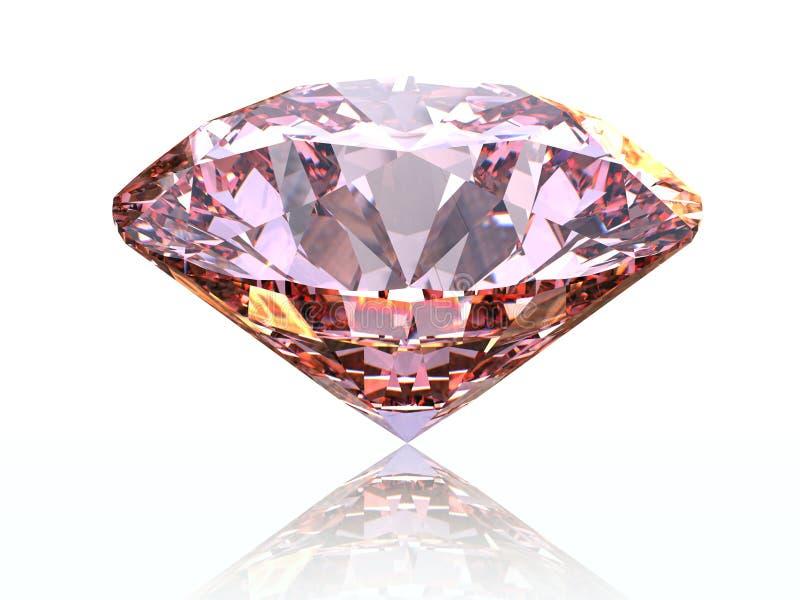 Rosafarbener Diamant stock abbildung