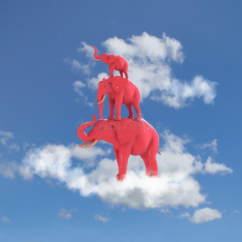 Rosafarbener Elefant stockfotografie