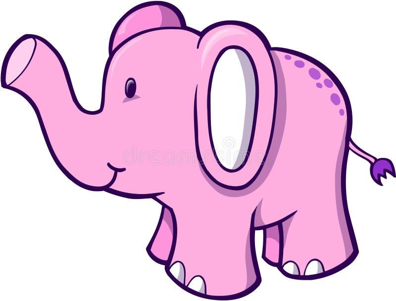 Rosafarbener Elefant-Vektor lizenzfreie abbildung