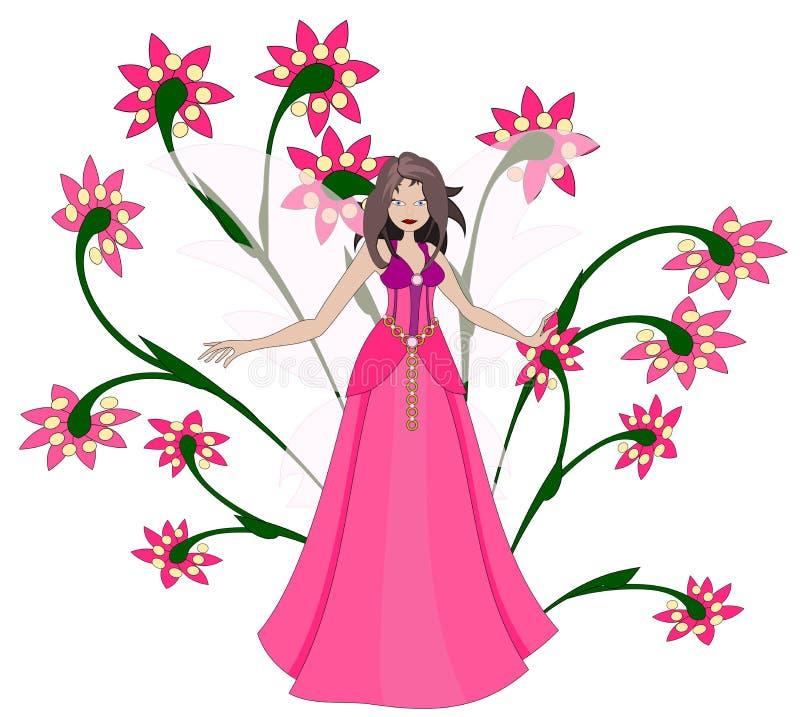 Download Rosafarbener Elf stock abbildung. Illustration von kleid - 26355286