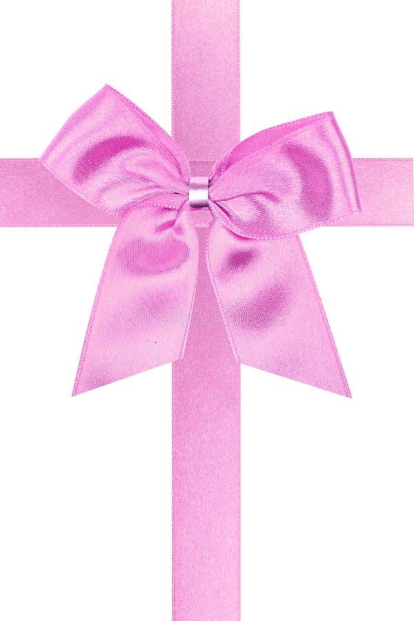 Rosafarbener Feiertagsbogen lizenzfreie stockfotografie