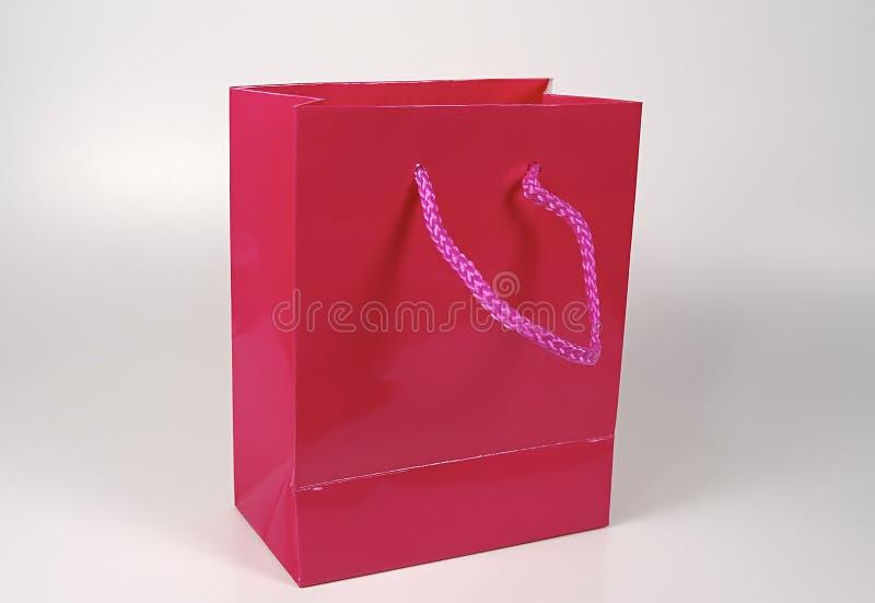 Rosafarbener Geschenk-Beutel lizenzfreie stockfotos