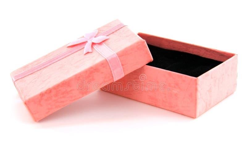 Rosafarbener Geschenk-Kasten lizenzfreie stockbilder