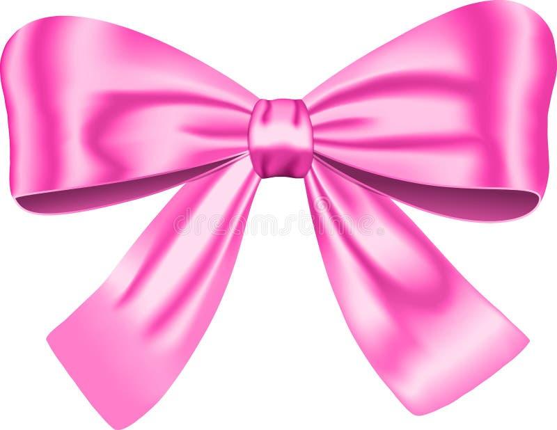 Rosafarbener Geschenkbogen lizenzfreie abbildung