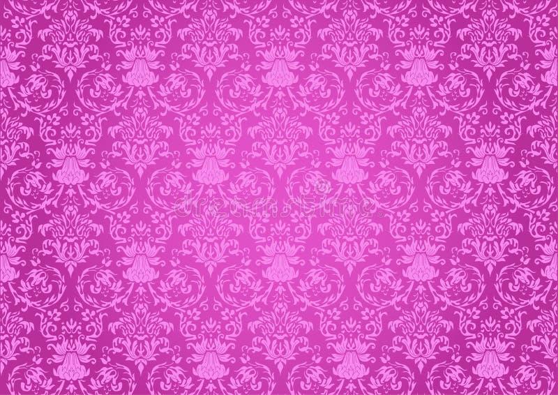 Rosafarbener Hintergrund der Wiederholungen vektor abbildung