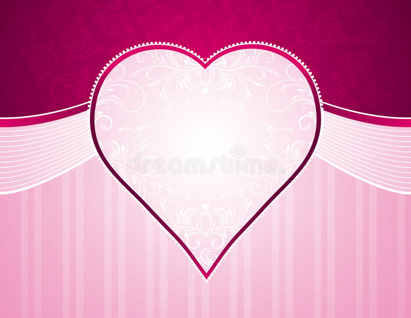 Rosafarbener Hintergrund mit Inneren vektor abbildung
