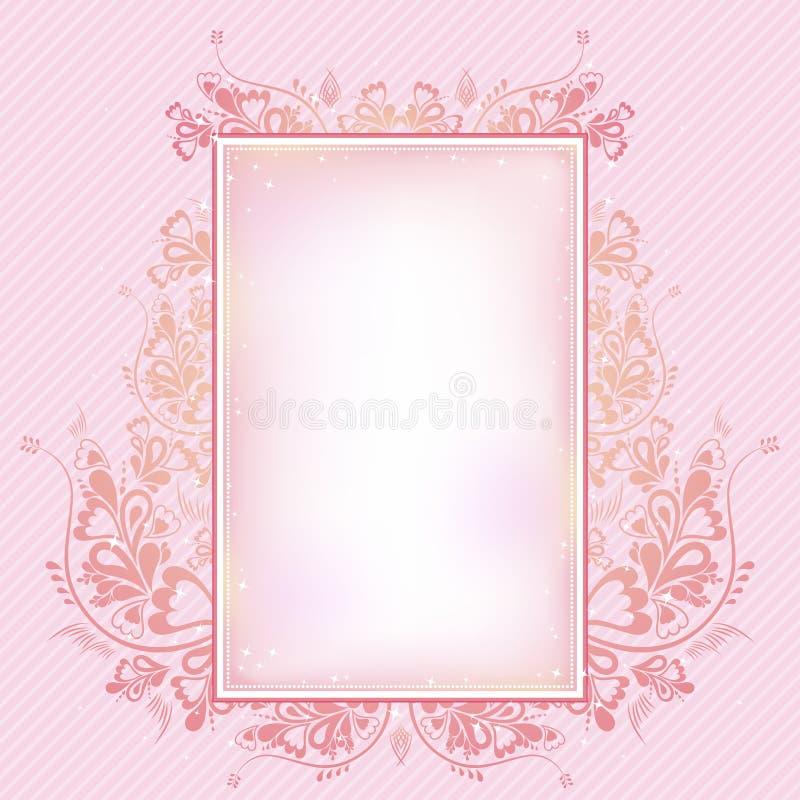 Rosafarbener Hintergrund, Vektor lizenzfreie abbildung