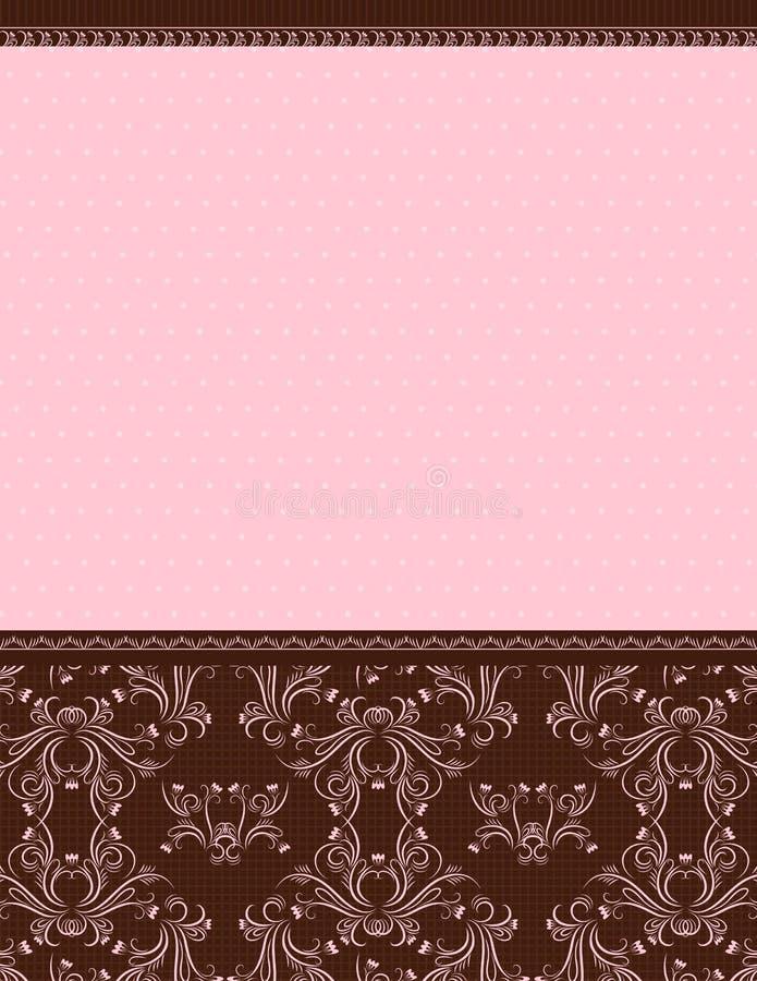 Rosafarbener Hintergrund, Vektor stock abbildung